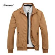 DIMUSI hommes vestes printemps automne manteaux décontractés couleur unie hommes Sportswear col montant Slim vestes hommes Bomber vestes 4XL