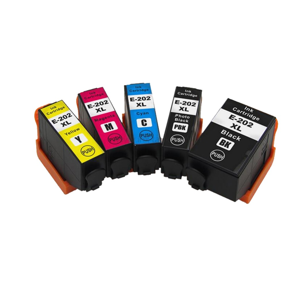 YLC 1set 5 colors 202XL Compatible ink cartridges For Epson 202 XL For Epson Expression premium XP-6000 XP-6005 Printer 10 compatible epson 33xl ink cartridge for expression premium xp 530 540 630 640 635 645 830 900 printer