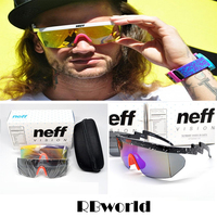 New Fashion Neff Sunglasses Mens Brand Designer Sport Outdoor Big Frame Sun Glassses With Packing 2