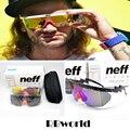 New Мода Neff Солнцезащитные Очки Мужчины Марка Дизайнер Спорт На Открытом Воздухе Большой рамка Солнцезащитные Очки С Упаковкой 2 Объектива óculos de sol feminino
