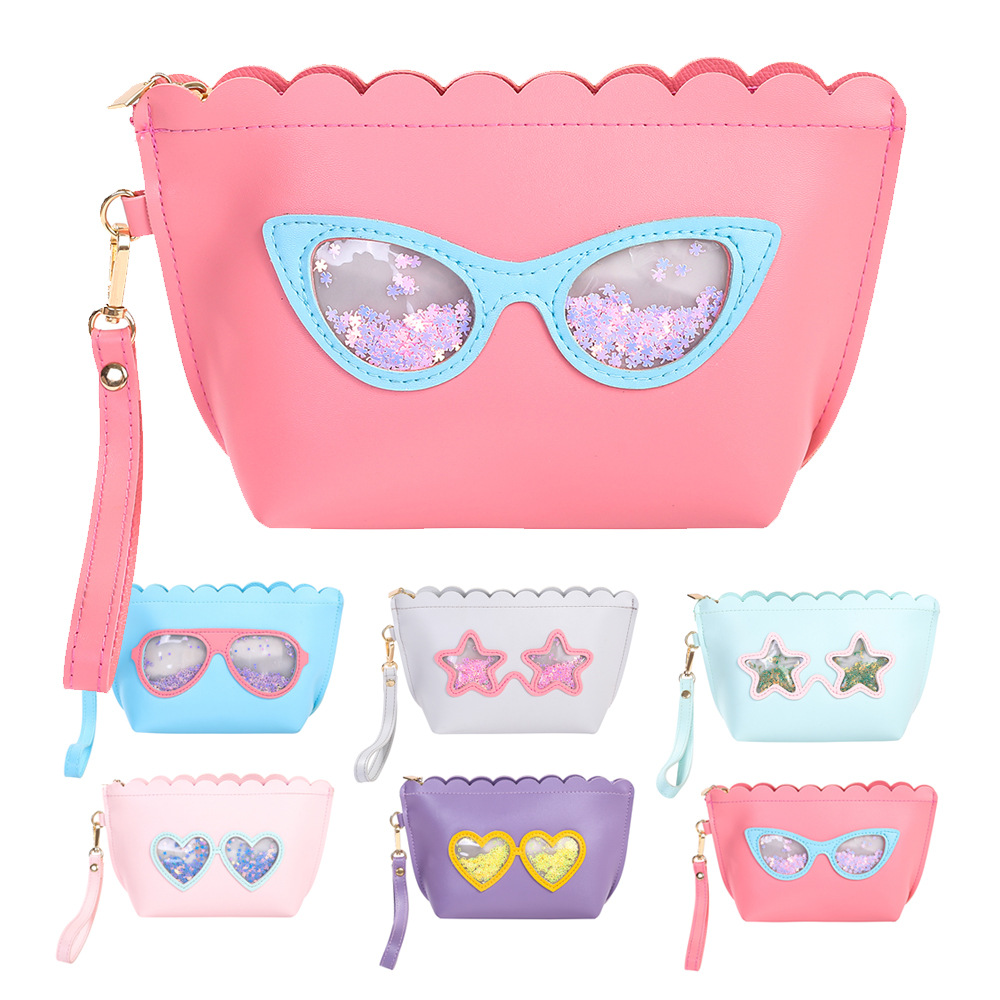 2017 Cheap New Lovely Girls Ladies Clutch Wrist Purse Sunglasses Glasses Bag Childrens Cosmetics Bag for Christmas Day Gift