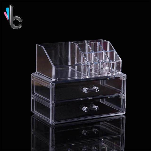 Portable Acrylic Makeup Organizer Cosmetic Storage Display Box