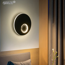 Modern LED Wall Lights For Bedside Corridor Lighting White Black Grey Creative Earth Sconce Lamp Luminaria Luminaire Deco Maison(China)