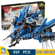 973pcs New Ninja Lightning Jet Plane Fighter Kids 06050 Model Building Blocks Children Assemble Toys Bricks Compatible With lego