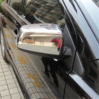 ABS Chrome Rearview mirror cover Trim/Rearview mirror Decoration for 2010 2013 Mitsubishi Lancer/Lancer X/Lancer Evo car styling|Chromium Styling| |  -