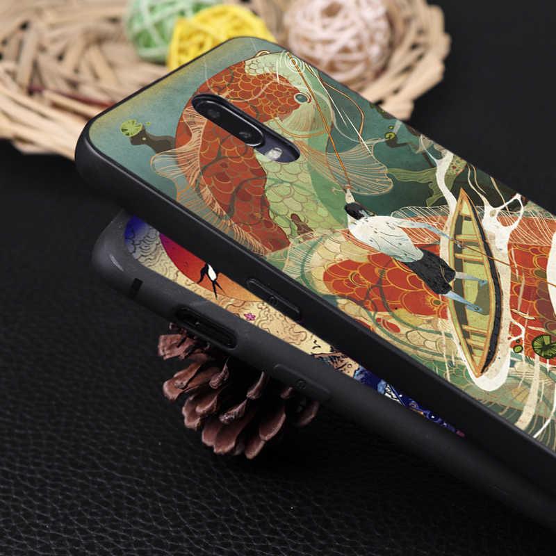 Funda de teléfono de silicona suave para oneplus one plus 7 pro 7 6 6t 5 estilo japonés t