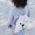 Ins Fashion Children Kids Boys Girls Cute Bear Panda Batman Designer School Backpack Bag Canvas Toy Storage Bag 23*27CM