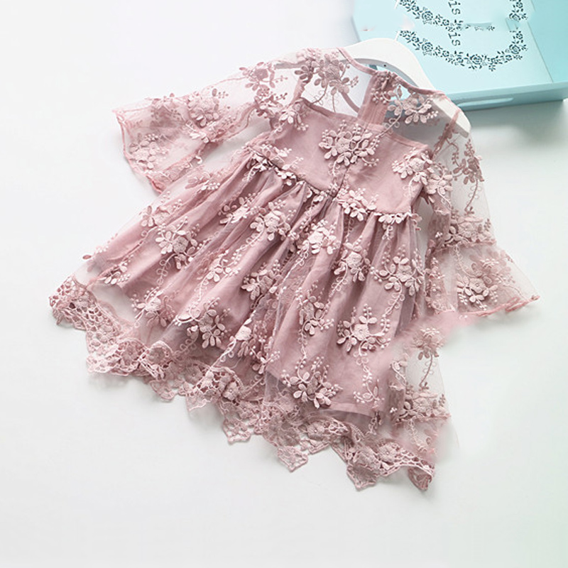 LILIGIRL Summer Girl Clothes Kids Princess Dresses For Girls Lace Flower Dress Baby Girl For Party And Wedding Party Clothes new fashion embroidery flower big girls princess dress summer kids dresses for wedding and party baby girl lace dress cute bow