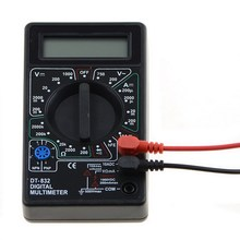 DT-832 Digital LCD Voltmeter Ammeter Ohm Tester Multimeter Buzzer Diagnostic-tool free shipping