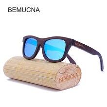 2017 New BEMUCNA New Men's Wooden Polarized Sunglasses Retro Women Luxury Handmade Wooden Sun Glasses Mading LOGO For Free