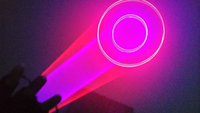1 pair Red &Violet / Purple Vortex Laser Gloves Show Lazer Lighting Rechargeable Mobile Lasers display lights for DJ Disco Party