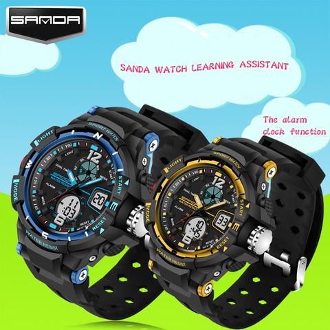New Fashion SANDA Brand Children Sports Watches LED Digital Quartz Military Watch Boy Girl Student Multifunctional Wristwatches Islamabad