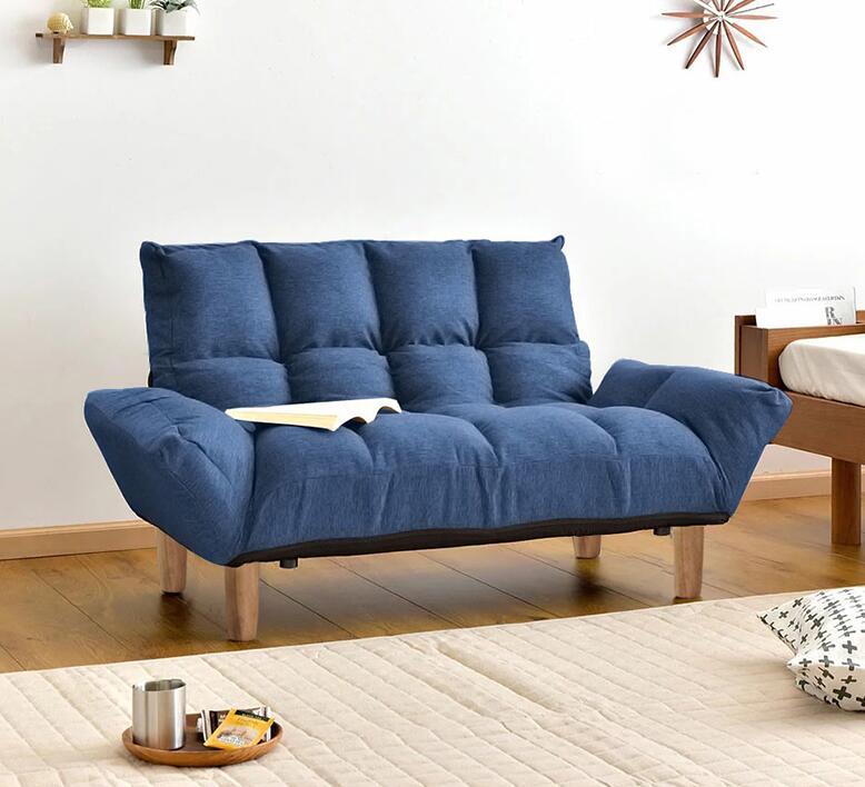 Lazy Couch Tatami Bedroom Living Room Double Folding Sofa Balcony Mini Sofa Convertible Loveseat Modern Small Foldable Futonbed