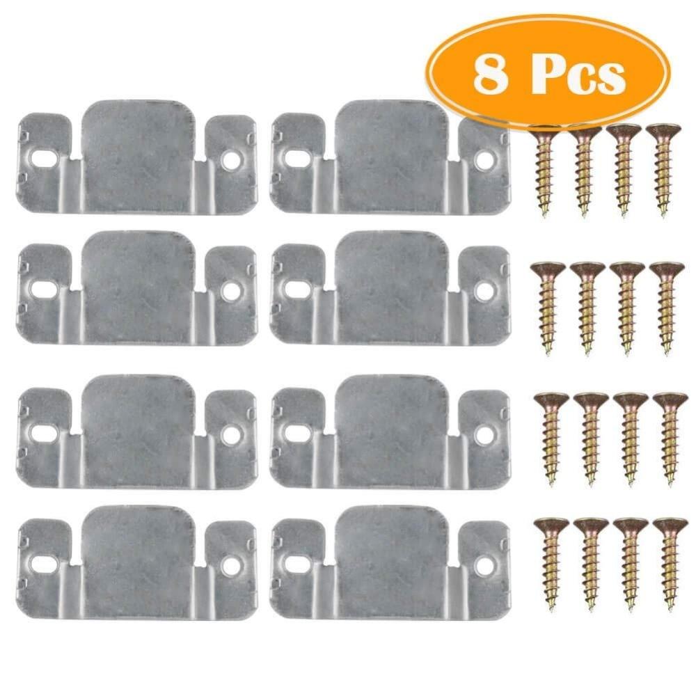 8Pcs Metal Sectional Sofa Interlocking Furniture Connector With Screws
