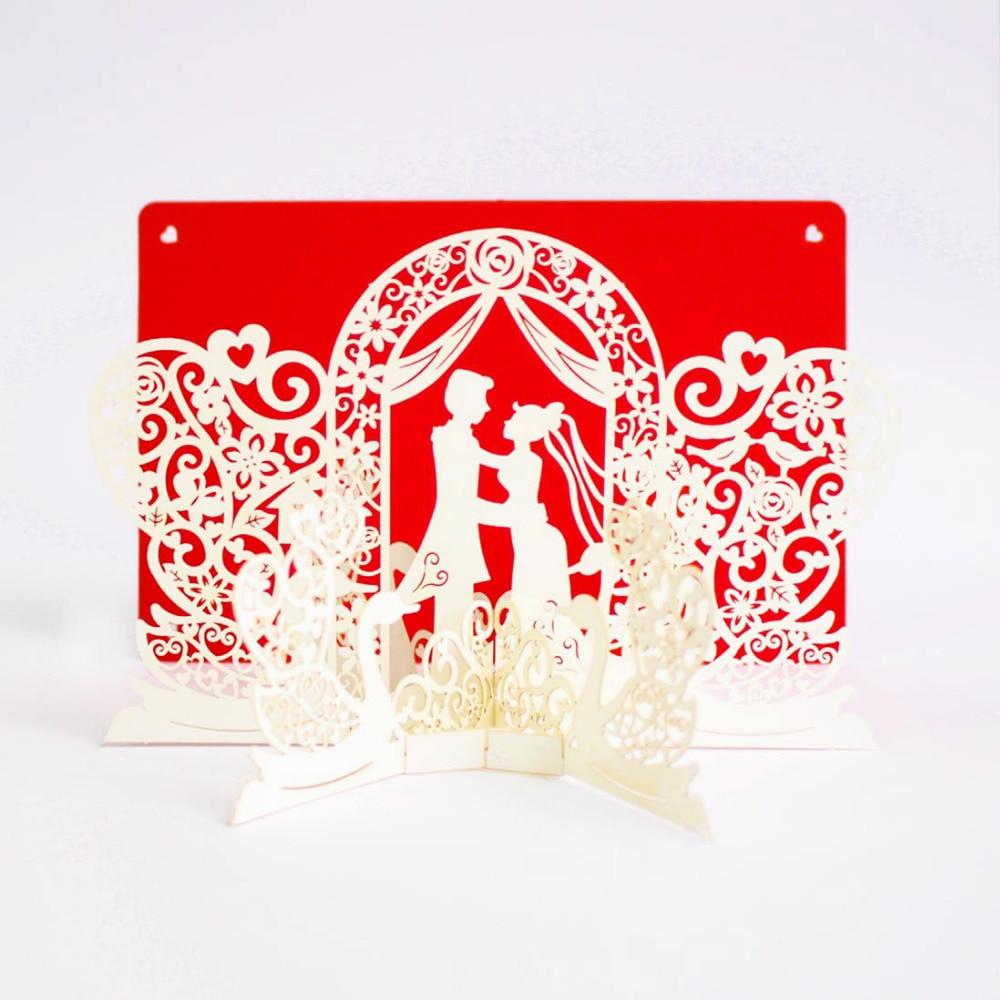 Aliexpress.com : 50 Stücke Romantische 3D Pop Up Karten Hochzeit  Mandarinente Prinz Und Prinzessin Einladungskarte Hochzeit Grußkarten Mit  Umschlag Von ...