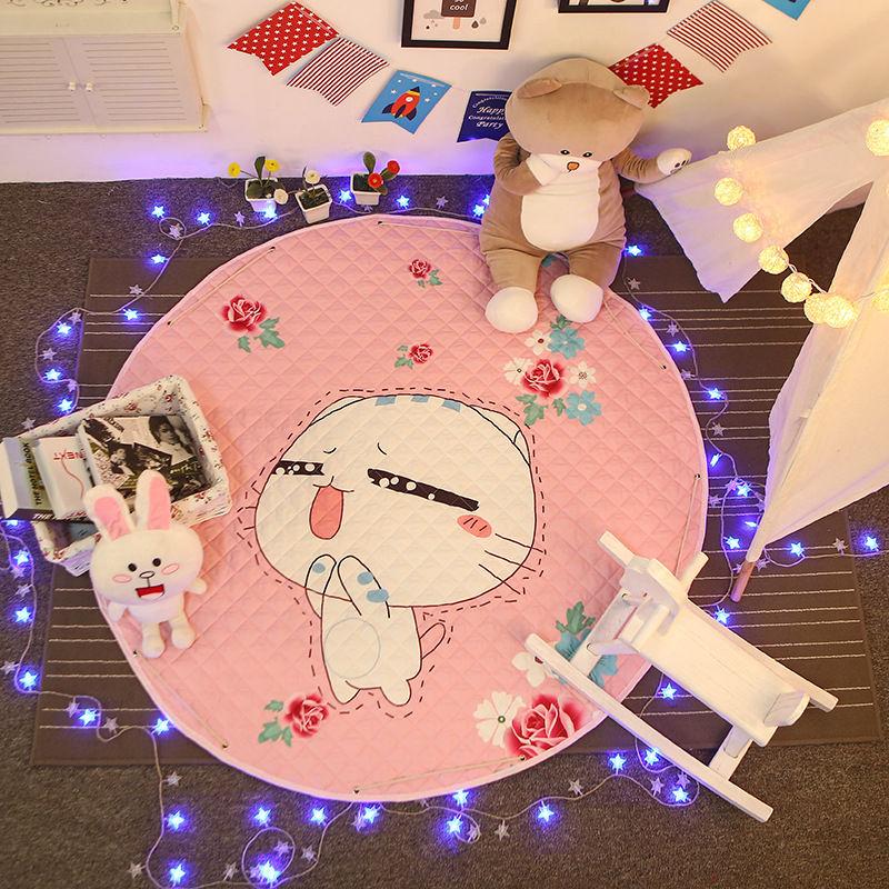 Salon tapis de sol tapis 150 cm rond enfants jouet sac de rangement bébé tapis de jeu tapis pour enfants ramper Pad panier de rangement pour jouet