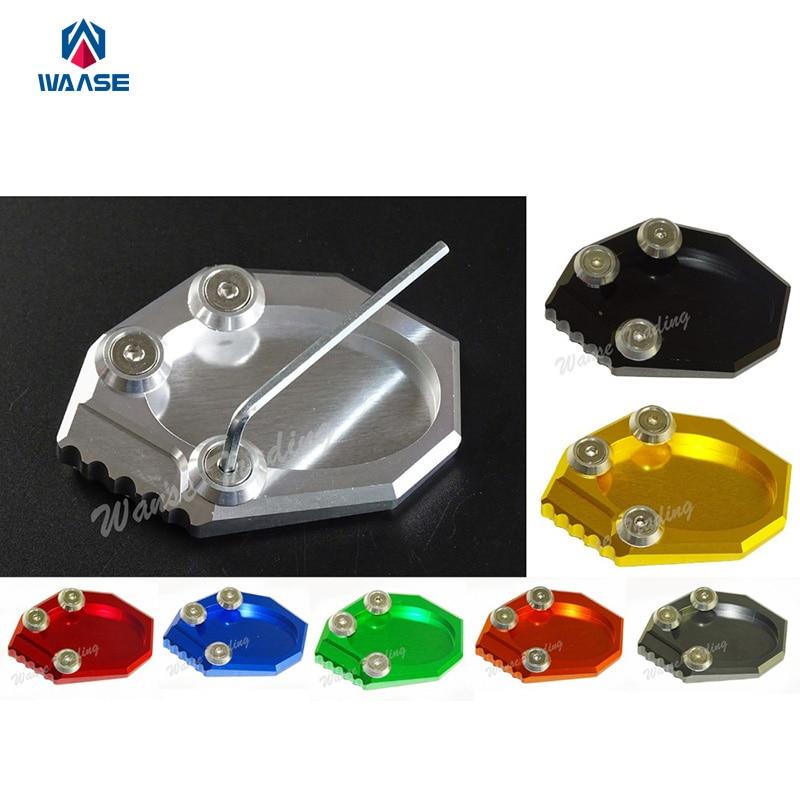 Мотоцикл Подставка для ног Боковая стойка расширение площадку Поддержка плита для Кавасаки Versys 650 KLX250 2010 2011 2012 2013 2014-2016
