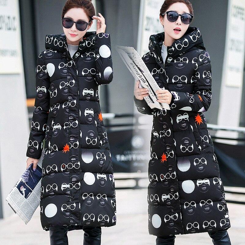 Confort térmico de cultiva su ropa de algodón acolchado niñas chaqueta larga cal
