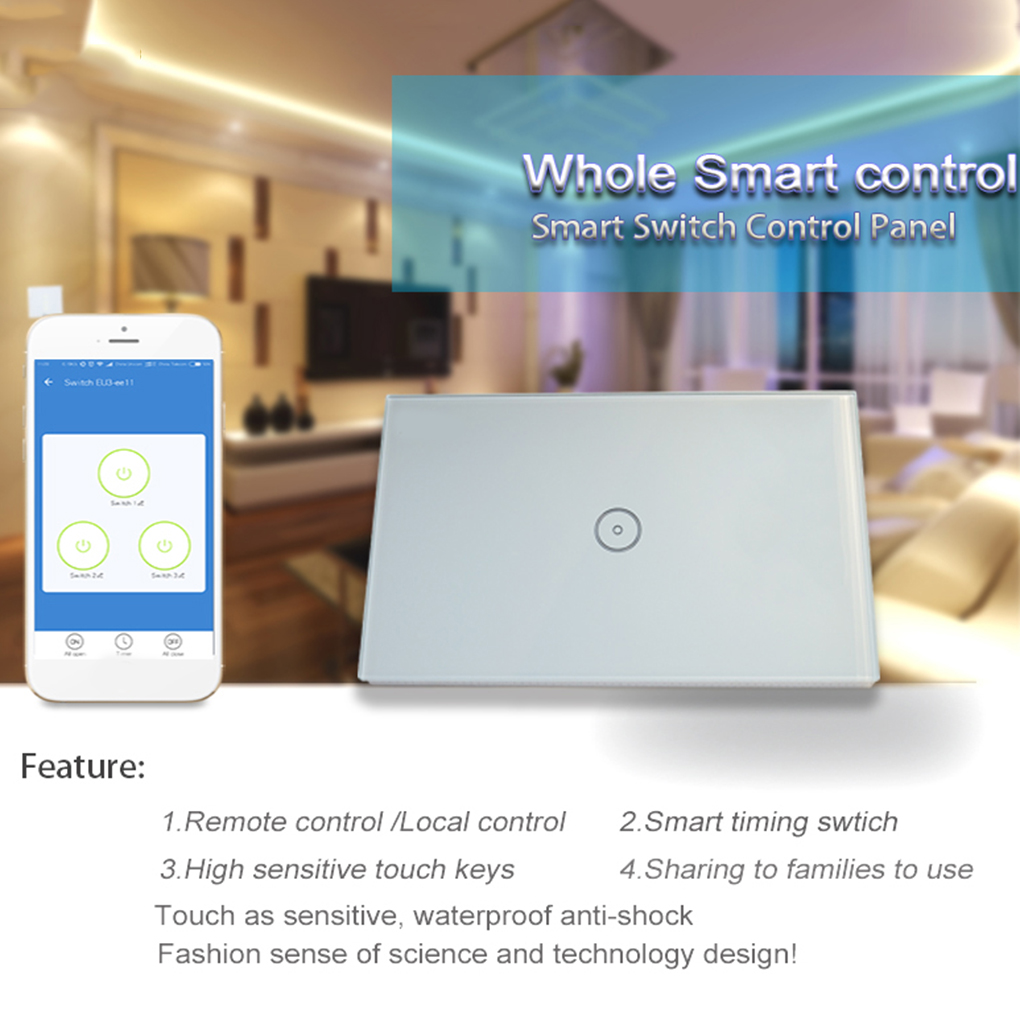 Smart Home Wireless WiFi Glass Panel Timing Touch Smart Switch 2 Gang Led Wall Lights Switch smart home us au wall touch switch white crystal glass panel 1 gang 1 way power light wall touch switch used for led waterproof