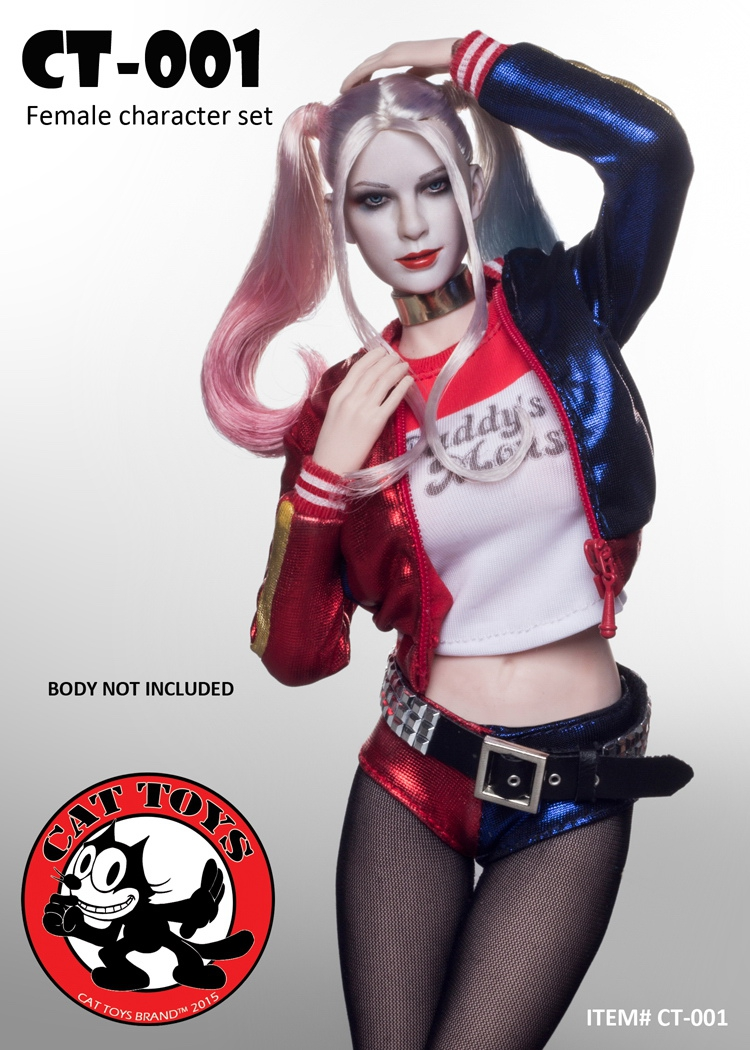 1/6 scale figure doll female joker Harley Quinn Seamless body 12 Action figure doll Collectible Figure  Model Toys . NO BOX 1 6 scale figure doll black detective 12 action figure doll collectible figure plastic model toys no box