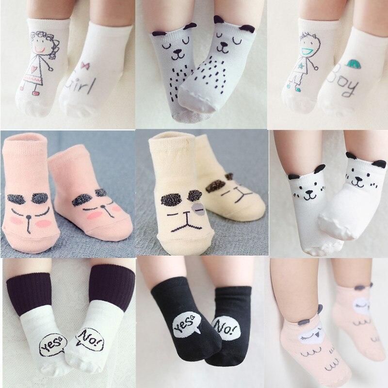 Cute Baby Socks Infant Socks For Girls Boys Cotton Autumn Newborns Toddler Anti-Slip Socks Socks Warm Toddler Boy/girls Floor