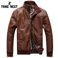 2017 New Listing Men's Leather Jacket Fashionable Men PU Leather Jacket Solid Warm Jacket Male Plus Asian Size 5XL MWP262