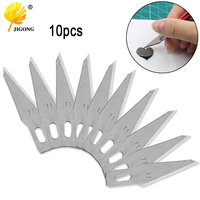 10 pçs 11 # lâminas para ferramentas de escultura em madeira gravura artesanato escultura faca bisturi ferramenta de corte pcb reparação Facas    -