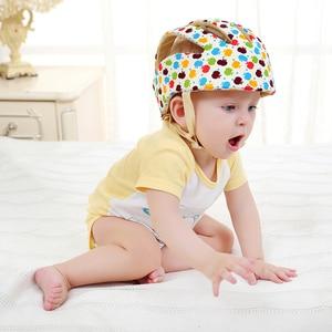 Image 3 - Bebê capacete de proteção de segurança capacete para bebês menina algodão infantil proteção chapéus crianças boné para meninos meninas infantil