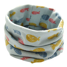 Cute Fish Comfortable Autumn Winter Boys Girls Collar Baby Warmth Scarf Cotton O Ring Windproof Neck Scarves Outdoor 2018 #20(China)