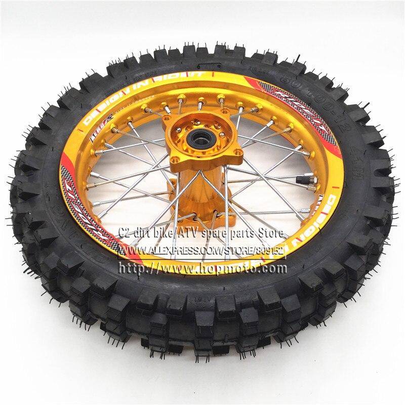Pro-Wheel Pit Bike Wheel And Spoke Kits Set 16 Hd