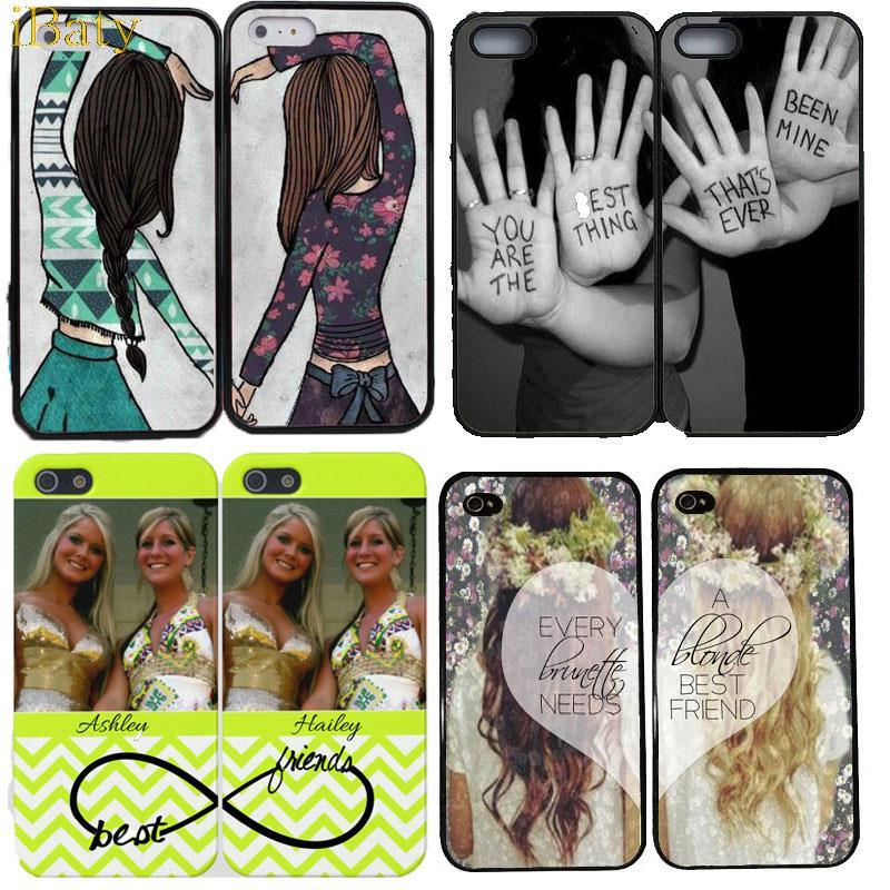 2015 Luxury Stylish Girly BFF Best Friends Forever Cover Apple iPhone 4 4S 4G Mobile Phone Case Capinhas de Celular  -  iBaty Cute Custom Gift Co., Ltd. store