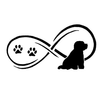 17.8*9CM Bichon Frise Dog Vinyl Decal Endearing Car Stickers Car Styling Bumper Decoration Black/Silver S1-1292 image