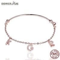 Dower Me 925 Sterling Silver Women S Bracelet Fashion KGR Alphabet Diamond Bracelet