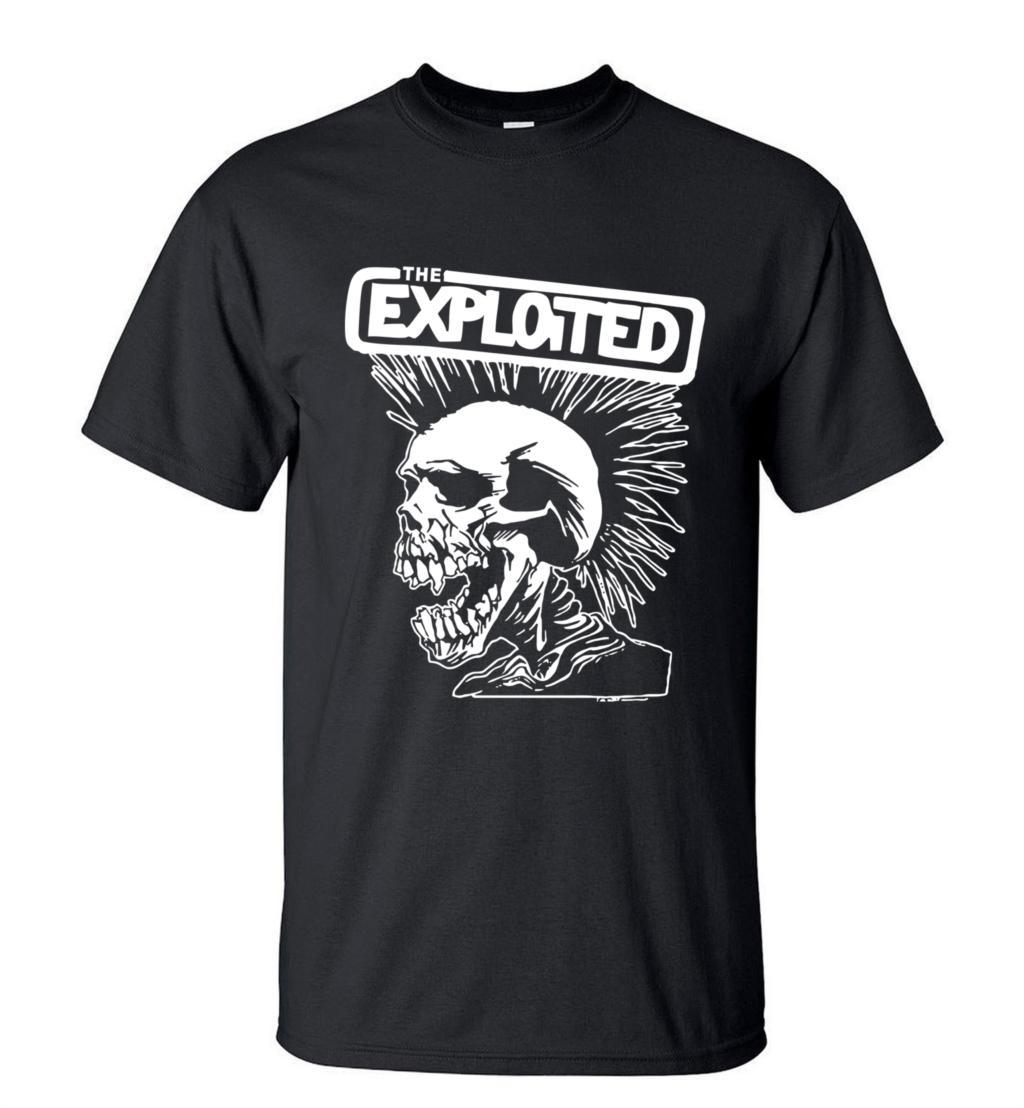 New Novelty Punk Style Skull T-Shirt Exploited Printed Mens Short Sleeve T Shirts 2020 Summer Streetwear Hip Hop O-Neck Tops Tee