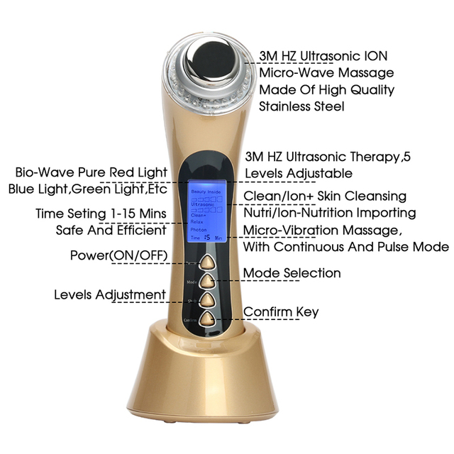5 in 1 Micro Current Photon Facial Massager