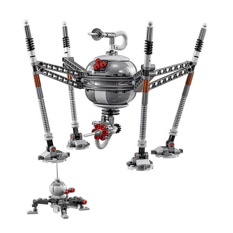 320 pçs diy blocos de construção técnica robôs aranha compatível com l marca star wars tijolos brinquedos para crianças brinquedos