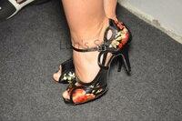 New Ladies Flower Satin Latin Ballroom Dance Shoes Salsa Dance Shoes Tango Bachata Dance Shoes ALL