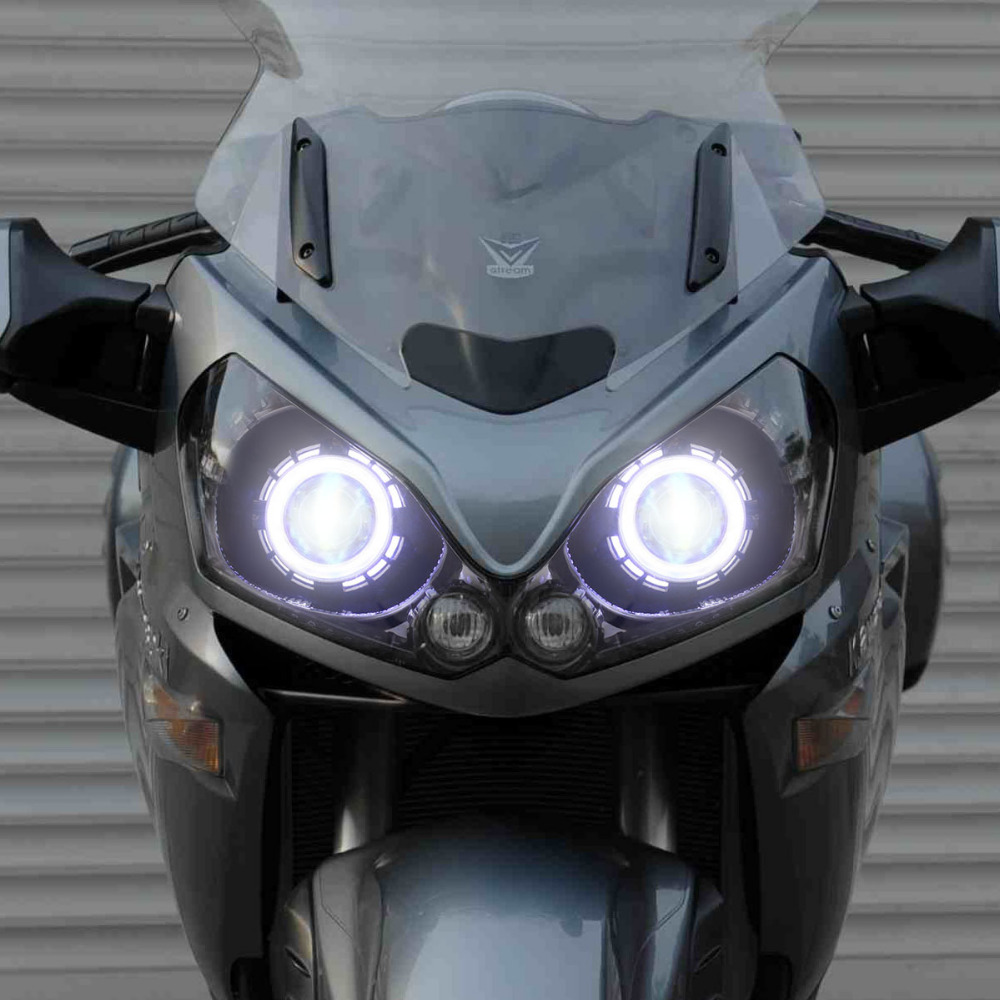 Kt Headlight Suitable For Kawasaki Concours 14 1400gtr Zg1400 2008 Angel Light Wiring Harness Bmw 2016 Led Eyes Blue Demon Hid Bi Xenon Projector Lens On Alibaba