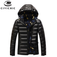CIVICHIC Men Fashion 90% Down Jackets Warm Hooded Parka Winter Eiderdown Overcoat Plus Size Daunenjacke M 4XL Outwear Coats DC04