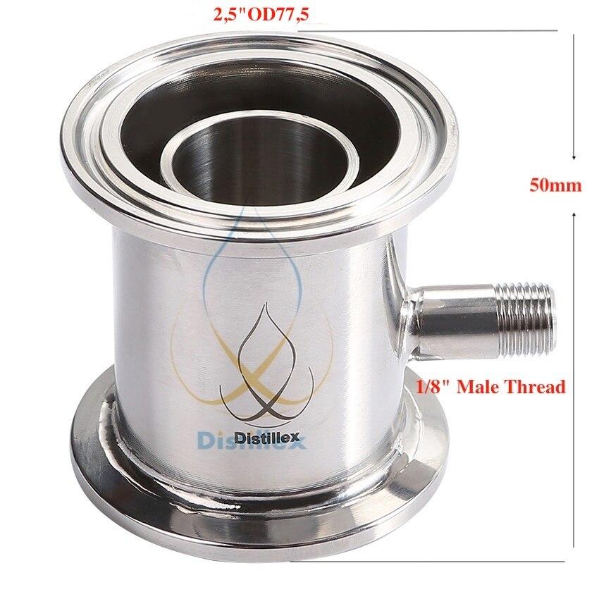 2.5 OD77.5mm Rectification module Reflux colonne de Distillation, En Acier Sanitaire 304