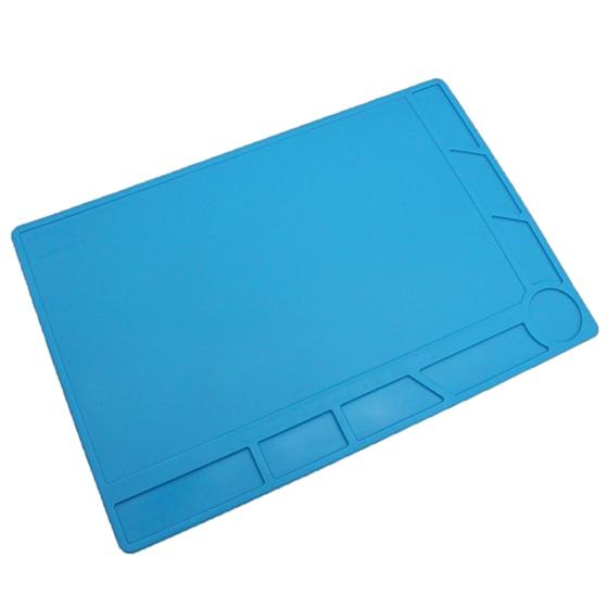 Isolamento Pad Silicone Mat Mesa De Solda, azul