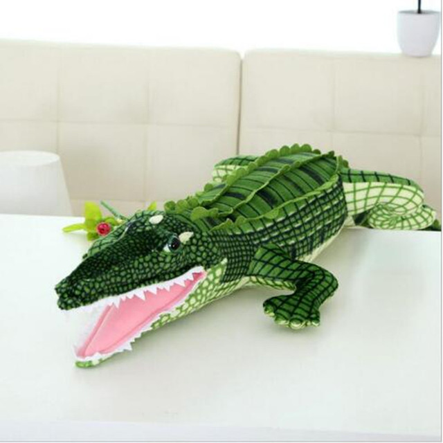 Kids Toy New Arrival Big Size Real Life Crocodile Plush Toys 100cm(39.37inch) Stuffed Animals Doll Cushion Pillow Toys Gifts