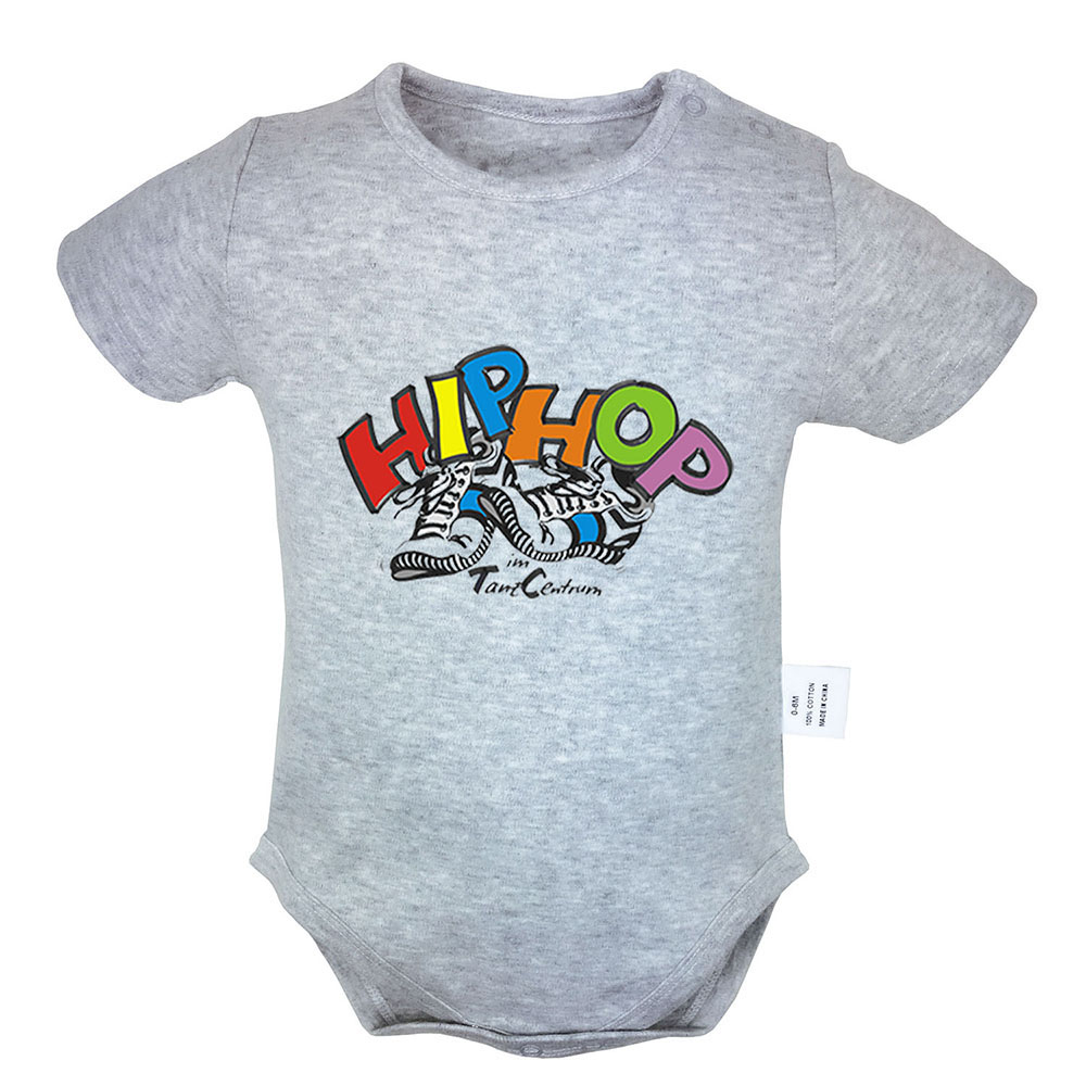 Cool Street Hip Hop Graffiti Boy Silhouette Punk Style Rock Band Newborn Baby Boy Girl Outfits Jumpsuit Infant Bodysuit Clothes