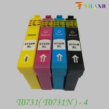 1Set Ink cartridge For Epson T0731 - T0734 Stylus CX7300 CX8300 TX210 C79 C90 CX3900 CX3905 CX4900 CX4905 CX5500 CX5600 CX5900 картридж c13t10544a10 epson t0734 для c79 cx3900 4900 5900 желтый c13t10544a10