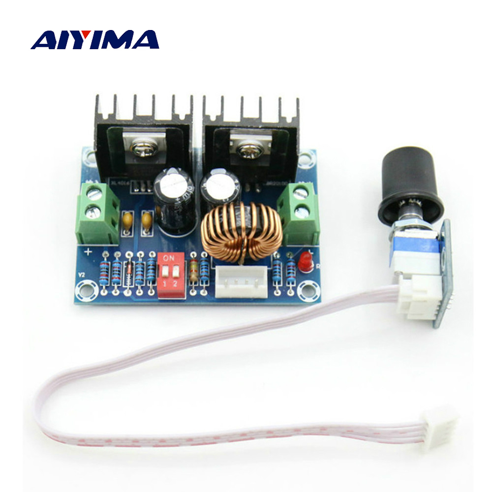 Aiyima DC-DC Voltage Regulator Module 200W XL4016 Step-down Buck Board High Power 8A With External Potentiometer