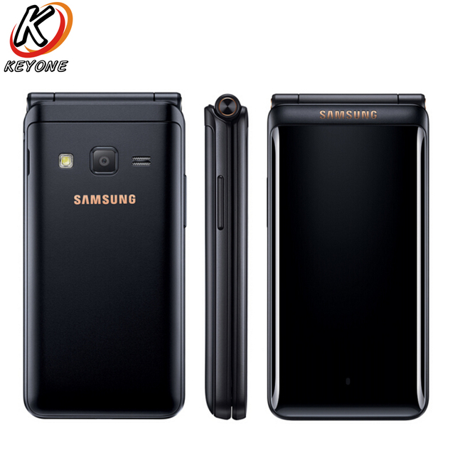"Brand New Original Samsung Galaxy Folder 2 G1650 LTE Mobile Phone 3.8"" 2GB RAM 16GB ROM Quad Core 8.0MP Dual SIM Flip CellPhone"