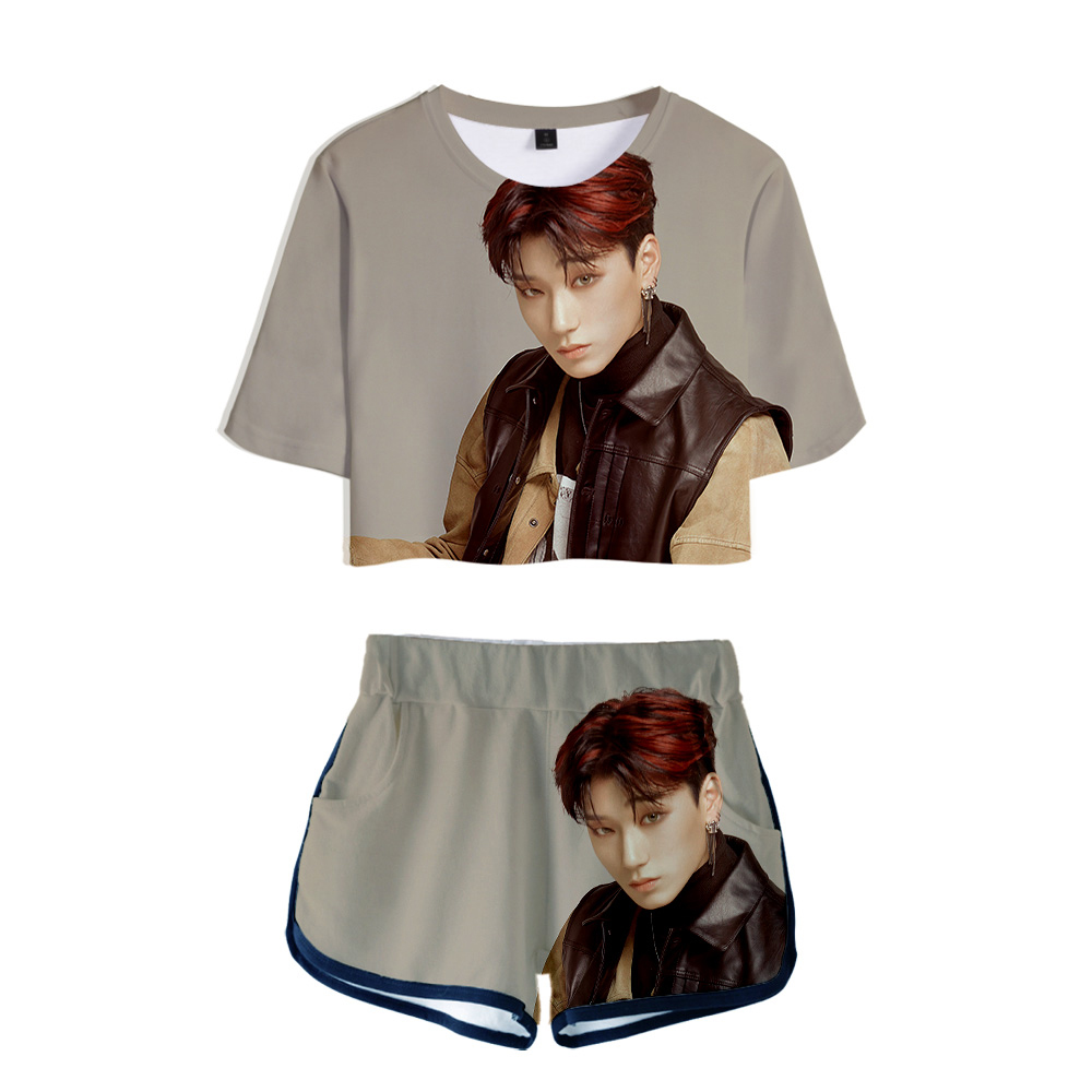 Kpop ATEEZ Idol Photo Gym Clothes Short Sleeve Tshirt