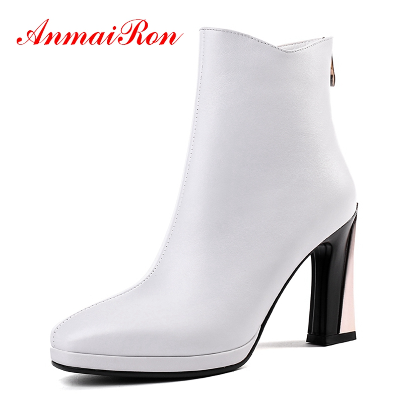 AnmaiRon   Basic  Square Toe  Winter Boots for Girls  Ankle  Boots  Botas Mujer Size 34-39 ZYL1433AnmaiRon   Basic  Square Toe  Winter Boots for Girls  Ankle  Boots  Botas Mujer Size 34-39 ZYL1433