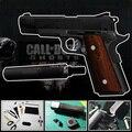3D modelo de papel arma de fogo arma / pistola M1911 acabado comprimento 21 cm 1:1 escala 21 cm Puzzle brinquedo de papel artesanal