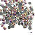Top quality AAAAA SS6-SS30 Crystal AB Flatback Glass Rhinestone Iron on /Hot-fix Rhinestones Strass Shiny More Bright